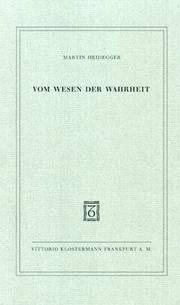 image of Vom Wesen der Wahrheit