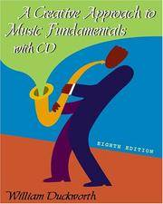 image of A Creative Approach to Music Fundamentals (with CD-ROM)