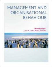 Management and Organisational Behaviour.: European Edition.