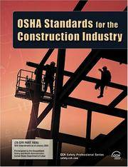 OSHA Standards for the Construction Industry as of January 2006 by CCH Editorial Staff - Paperback - 2006-02-15 - from JMSolutions (SKU: sA23-xxxx150522043)