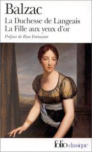 image of LA Duchesse De Langeais (Folio Series : 846)