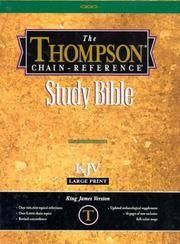 image of Thompson Chain-Reference Bible (Style 519black-index) - Large Print KJV - Bonded Leather