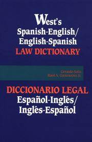 West's Spanish English English Spanish Law Dictionary: Translations of Terms, Phrases, and Definitions of Concepts of Modern Spanish and English Legal Terminology (Bilingual English-Spanish / Spanish-English Edition). by  & Raul A. Gasteazoro et al  Eduardo Stagg - Paperback - First Edition Thus [1992]; unstated.   - 1992. - from Black Cat Hill Books and Biblio.com