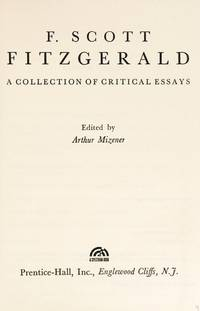 image of F. Scott Fitzgerald : A Collection of Critical Essays