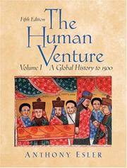 image of The Human Venture: A Global History, Volume 1 (to 1500) (5th Edition)