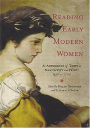 Reading Early Modern Women