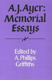 A. J. Ayer: Memorial Essays (Royal Institute of Philosophy Supplements, Series Number 30)