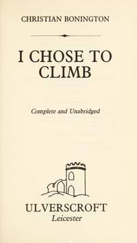 image of I Chose to Climb