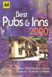 AA Best Pubs & Inns Guide 2000: Over 1600 Pubs and Inns in England, Scotland and Wales (AA...