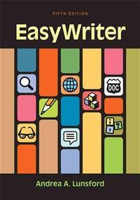 EasyWriter by  Andrea A Lunsford - 2013-11-20 - from Universal Textbook (SKU: SKU0044121)