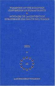 Yearbook of the European convention on human rights; v.45, 2002.