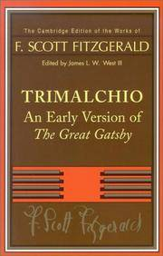 image of Trimalchio: An Early Version of 'The Great Gatsby' (The Cambridge Edition of the Works of F. Scott Fitzgerald)