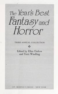THE YEARS BEST FANTASY AND HORROR THIRD ANNUAL COLLECTION
