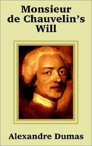 image of Monsieur de Chauvelin's Will