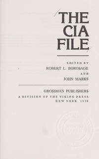 The CIA File by  editors  and John Marks - Hardcover - 1976 - from BookDepart and Biblio.co.uk