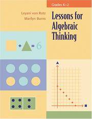 Lessons for Algebraic Thinking; Grades K-2