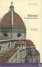 Florence an Architectural Guide (Itineraries) by  Guido Zucconi - Paperback - from Cloud 9 Books and Biblio.com
