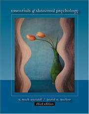 image of Essentials of Abnormal Psychology (Paperbound Version with CD-ROM, Practice Tests, and InfoTrac)
