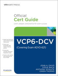 VCP6-DCV Official Cert Guide (Covering Exam #2VO-621) (3rd Edition) (VMware Press Certification)