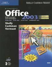 image of Microsoft Office 2003: Brief Concepts and Techniques (Shelly Cashman Series)