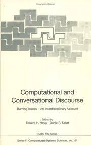 Computational and Conversational Discourse: Burning Issues - An Interdisciplinary Account (Nato...
