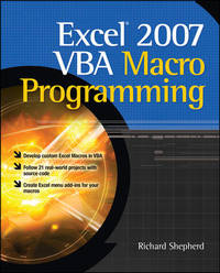 image of Excel 2007 VBA Macro Programming