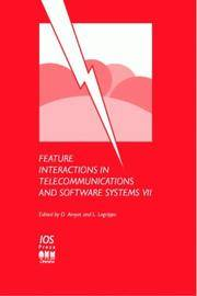 Feature Interactions in Telecommunications and Software Systems VII