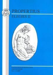 image of Propertius: Elegies II: Bk.2