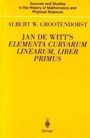 JAN DE WITT'S ELEMENTA CURVARUM, LIBER PRIMUS