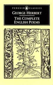 image of Complete English Poems, The (Herbert, George) (Penguin Classics)