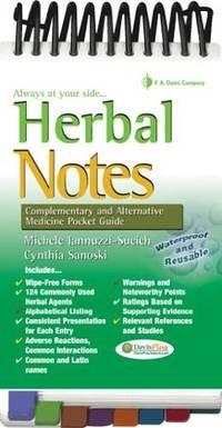 Herbal Notes: Complementary & Alternative Medicine Pocket Guide (Davis's Notes)