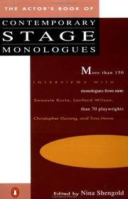 The Actor's Book Of Contemporary Stage Monologues ( More Than 150  Monologues From More Than 70 Playwrights)