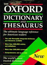The Oxford Dictionary and Thesaurus: The Ultimate Language Reference for American Readers