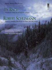 image of J.S. Bach - Concerto in C Minor & Schumann - Andante & Variations, Opus 46: Music Minus One Piano (Music Minus One (Numbered))