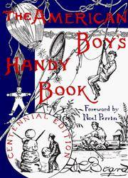 image of THE AMERICAN BOY'S HANDY BOOK