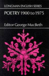 Poetry 1900 t0 1975