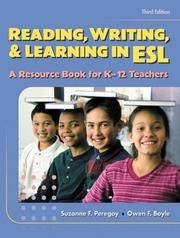 image of Reading, Writing and Learning in ESL: A Resource Book for K-12 Teachers (3rd Edition)