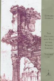 image of The Decline and Fall of the Roman Empire, Volume II (Modern Library)