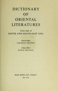 Dictionary of Oriental Literatures (Three Volume Boxed Set).