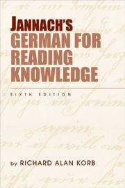 Jannach?s German for Reading Knowledge (World Languages)