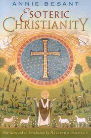 image of Esoteric Christianity or The Lesser Mysteries