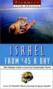 Frommer's Israel From $45 a Day (17th Ed)