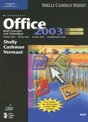 image of Microsoft Office 2003: Brief Concepts and Techniques (Shelly Cashman)