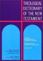Theological Dictionary of the New Testament by  Gerhard &  Gerhard Friedrich Kittel - Hardcover - 1979 - from Neil Shillington: Bookdealer & Booksearch and Biblio.com