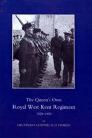 THE QUEEN'S OWN ROYAL WEST KENT REGIMENT 1920-1950 by Lieutenant-Colonel H. D. Chaplin - Paperback - from Military History Books and Biblio.com