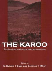 The Karoo. Ecological patterns and processes