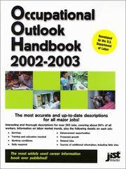 OCCUPATIONAL OUTLOOK HANDBOOK 2002-2003 by US Dept. of Labor - Hardcover - 2002 - from Folded Corner Books (SKU: 010349)