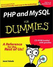 PHP and MySQL For Dummies? (For Dummies (Computers)) by Valade, Janet