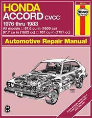 Honda Accord Automotive Repair Manual - 1976 Thru 1983