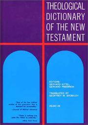 Theological Dictionary of the New Testament (Volume VIII) by Gerhard Kittel; Gerhard Friedrich - Hardcover - 1979-05 - from Ergodebooks and Biblio.com